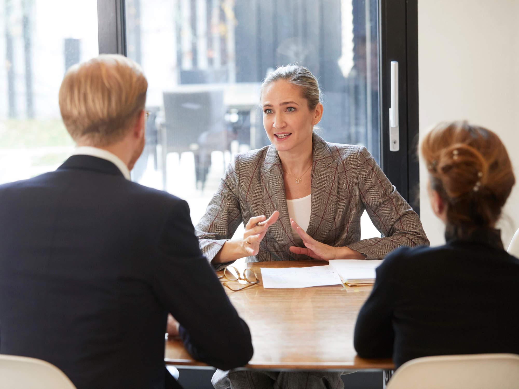 Besprechungssituation in der Kanzlei - Rechtsanwältin für einvernehmliche Scheidungen